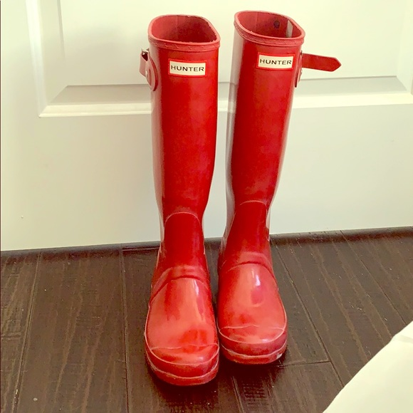 Womens Red Rain Boots